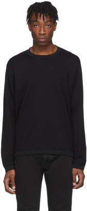 Maison Margiela Black Rib Detail Sweater