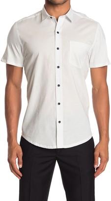 Work Rest Karma Multi Tri Color Diamond Print Short Sleeve Shirt