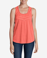 Eddie Bauer Women's Gypsum Embroidered Tank Top