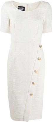 Boutique Moschino Tweed Buttoned Dresss