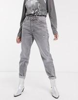 Bershka mom jean in gray