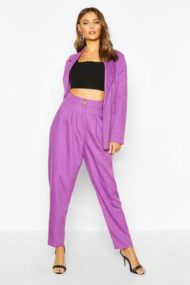boohoo High Waisted Exaggerated Tapered Tailored Trouser