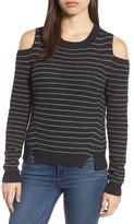 Lucky Brand Women's Cold Shoulder Stripe Sweater