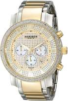 Akribos XXIV Men's AK439TT Grandiose Diamond Quartz Chronograph Gold Dial Watch