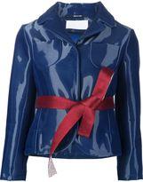 Maison Margiela varnished jacket - women - Silk/Cotton/Polyamide - 40