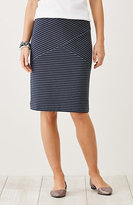 J. Jill Striped Ottoman Knit Pencil Skirt