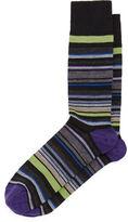 Neiman Marcus Merino-Blend Multi-Stripe Socks