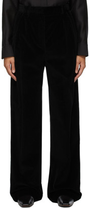 The Row Black Corduroy Chandler Trousers