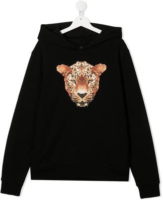 Marcelo Burlon County Of Milan Kids Leopard Print Hoodie
