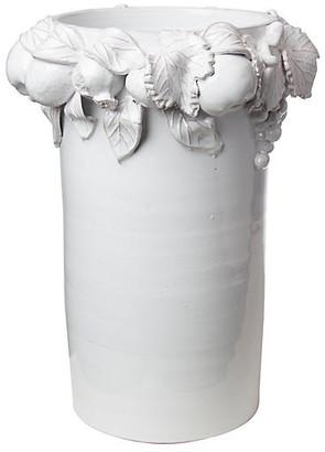 Global Views Della Robbia Vase - White