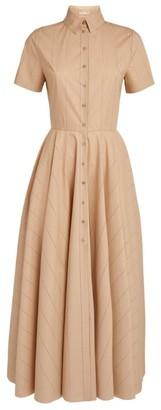 Alaia Cotton Maxi Shirt Dress