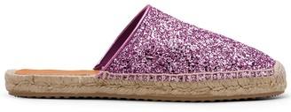 Car Shoe Glitter-Effect Espadrille Mules