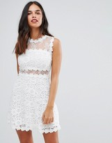 AX Paris Lace Crochet Skater Dress