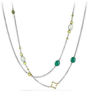 David Yurman Bijoux Bead Necklace With Prenite, Green Onyx, Peridot