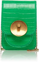 Marni Micro Alligator Saddle Lock Shoulder Bag