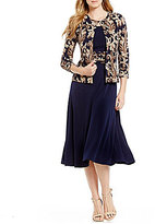 Jessica Howard Scroll-Print 2-Piece Jacket Dress