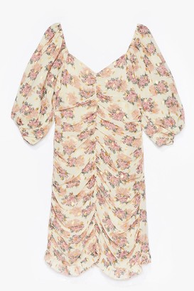 Nasty Gal Womens Stay Awhile Floral Mini Dress - Cream