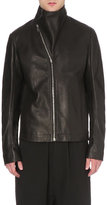 Rick Owens Asymmetric-collar Leather Jacket