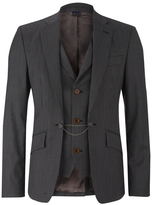 Vivienne Westwood Man Striped Waistcoat Jacket Grey Stripe
