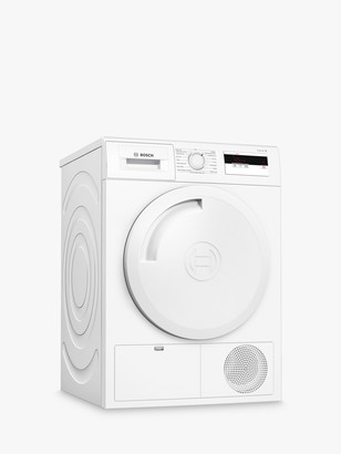 Bosch Serie 4 WTH84000GB Heat Pump Freestanding Tumble Dryer, 8kg, A+ Energy Rating, White