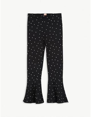 Wauw Capow Polka dot flared cotton leggings 3-9 years