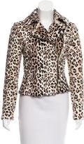 Intermix Leopard Print Ponyhair Jacket