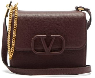Valentino V-sling Small Leather Shoulder Bag - Burgundy