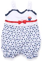 Children's Apparel Network Blue & White Minnie Mouse Romper - Infant