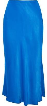 Iris & Ink Brooklyn Fluted Sateen Midi Skirt