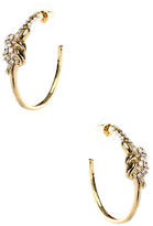 Amrita Singh Crystal Knot Hoop Earrings