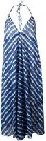 Tory Burch halterneck striped dress - women - Cotton - XS