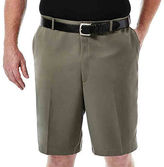 Haggar Cool 18 No-Iron Flat-Front Shorts-Big & Tall