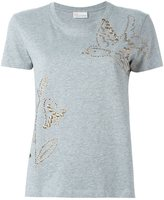 RED Valentino studded T-shirt - women - Cotton/metal - L