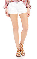 Celebrity Pink Destructed Rolled Cuff Stretch Denim Shorts