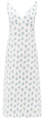 Emilia Wickstead Minnie Floral-print Cotton-voile Nightdress - White Print