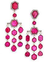 Ivy Diamond & Ruby Chandelier Earrings