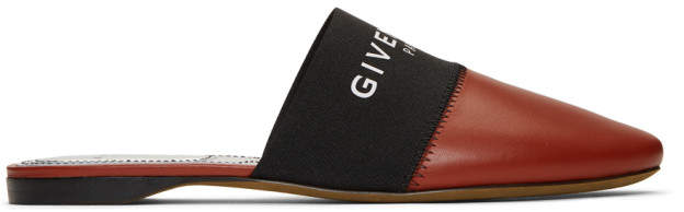 Givenchy Red Bedford Mules