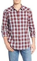 Lucky Brand Santa Fe Jacquard Plaid Western Shirt