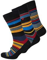 Pierre Cardin Pack of 3 Multi Stripe Socks