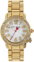 Betsey Johnson Women's Gold-Tone Stainless Steel Bracelet Watch 38mm BJ00562-04