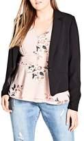City Chic Flutter Lace Back Blazer