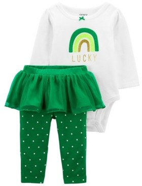Carter's Baby Girl St. Patrick's Day Bodysuit and Tutu Pant Set
