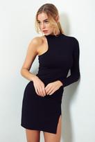 Donna Mizani One Sleeve Mock Neck Mini