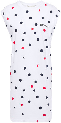 Être Cécile Printed Cotton-jersey Mini Dress