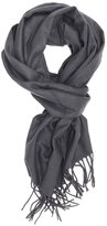 Wenseny Mens Scarves Wrap Solid Color Cashmere Feel Winter Wram Scarf with Tassel