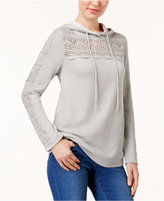 Style&Co. Style & Co Crocheted Hoodie, Created for Macy's