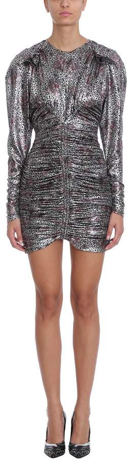 Isabel Marant Palmi Silver Silk Mini Dress