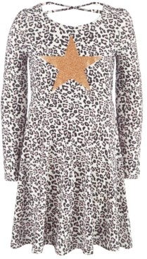 Epic Threads Toddler Girls Snow Leopard Heart Dress, Created For Macy's