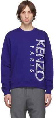 Kenzo Blue Sport Logo Sweatshirt