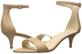 Nine West Leisa Heel Sandal (Natural Leather) Women's Shoes